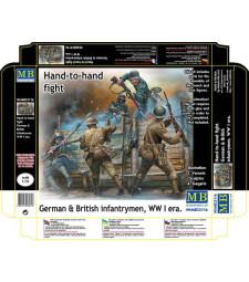 1:35 Ръкопашен бой - Немски и Британски войници - 5 фигури (Hand-to-hand fight, German & British Infantrymen, WW I era  - 5 figures)
