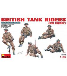 1:35 Британски танков екипаж - 5 фигури