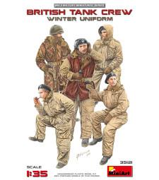 1:35 Британски танков екипаж, зимни униформи - 5 фигури (British Tank Crew, Winter Uniform)