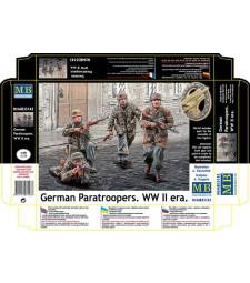 1:35 Германски парашутисти от втората световна война - 4 фигури (German Paratroopers. WW II era  - 4 figures)