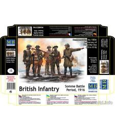 1:35 Британски войници, битката при Сома - 1916 - 5 фигури (British Infantry, Somme Battle Period, 1916  - 5 figures)