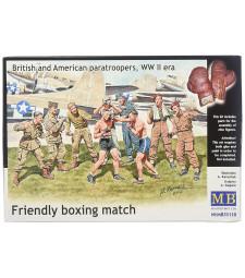 1:35 Приятелска боксова среща. Английски и американски парашутисти, ВСВ - 9 фигури