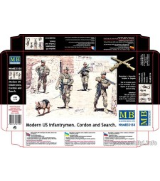 "1:35 Съвременни американски войници - 4 фигури (Modern US infantrymen. ""Cordon and Search"" - 4 figures)"