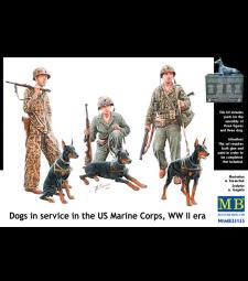 1:35 Кучета на служба в Американски морски пехотен полк, ВСВ - 6 фигури