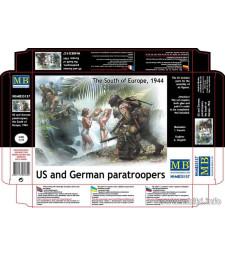 1:35 Гермаснки и Американски парашутисти - южна Европа 1944 - 5 фигури (US and German paratroopers, the South of Europe, 1944 - 5 figures)