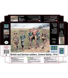 1:35 Немски и Британски пехотинци - битката при Сома 1916 - 6 фигури (British and German soldiers, Somme Battle, 1916 - 6 figures)