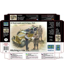 1:35 Американски парашутисти и цивилни граждани, 1945 - 5 фигури (Hitching a ride, US Paratroopers and Civilians, 1945  - 5 figures)