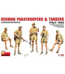 1:35 Немски парашутисти и танкисти (Италия 1943) - 5 фигури