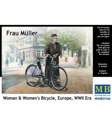 1:35 Frau Müller. Woman & Women's Bicycle, Europe, WWII Era - 1 figure
