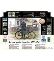 1:35 Германски войник с велосипед, 1939-1942 - 1 фигура (German soldier-bicyclist, 1939-1942  - 1 figures)