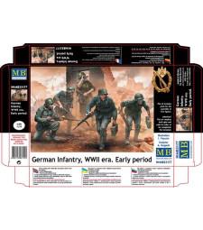 1:35 Германски войници от втората всетовна война - ранен период - 5 фигури (German Infantry, WWII era. Early period  - 5 figures)