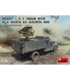 1:35 Съветски камион 1,5 t с картечница M-4 Maxim AA