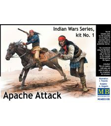 1:35 Indian Wars Series, kit No. 1. Apache Attack - 2 figures