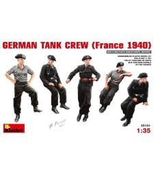 1:35 Германски екипаж на танк (Франция 1940 г.) - 5 фигури