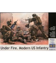 1:35 Под обстрел. Съвременна пехота на САЩ - 4 фигури