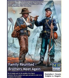 1:35 Family Reunited - Brothers Meet Again. End of the War – Confederate army surrenders to Federal troops. Appomattox, Virginia, April 9th, 1865. American Civil War series - 2 figures