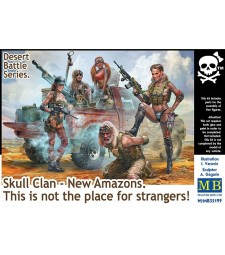 1:35 Desert Battle Series. Skull Clan - New Amazons. This is not the place for strangers! - 5 figures