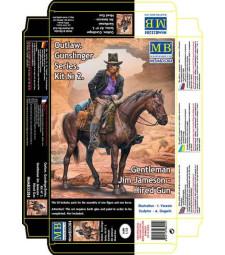 "1:35 Серия ""Стрелец"", Джентълменът Джим Джеймсън - 1 Фигура (Outlow. Gunslinger series. Kit No. 2. Gentleman Jim Jameson - Hired Gun  - 1 figures)"