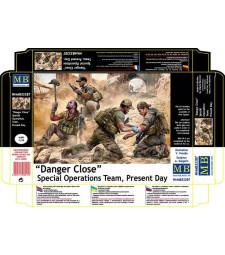 "1:35 ""Опасна близост"" Спец части - 4 фигури (Danger Close. Special Operations Team, Present Day  - 4 figures)"