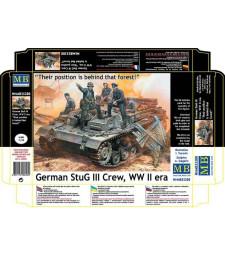 """1:35 Германски танков екипаж """"Тяхната позиция е зад тази гора"""" - 5 фигури (German StuG III Crew, WW II era. """"Their position is behind that forest!""""  - 5 figures)"""
