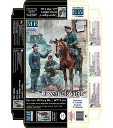 """1:35 """"Спешно съобщение"""" Немски войници - 3 фигури (Urgent Dispatch. German Military Men, WW II era  - 3 figures)"""
