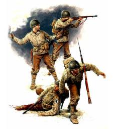 1:35 Американски пехотинци, Юли 1944 - 4 фигури (U.S. Infantry, July 1944  - 4 figures)