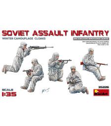 1:35 Съветска атакуваща пехота в зимни калуфлажни униформи (Soviet Assault Infantry, Winter Camouflage Cloaks) - 5 фигури