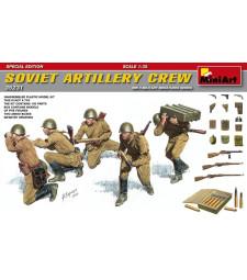 1:35 Съветски артилеристи (Soviet Artillery Crew - Special Edition) - 5 фигури, специално издание