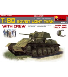 1:35 Съветски лек танк Т-80 с екипаж, специално издание – 5 фигури (T-80 Soviet Light Tank with Crew Special Edition)