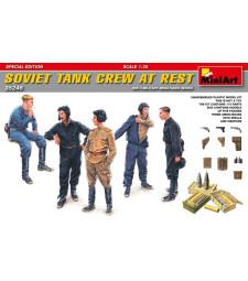 1:35 Съветски танков екипаж в почивка (Soviet Tank Crew at Rest - Special Edition) - 5 фигури, специално издание