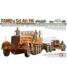 1:35 German 18 Ton Heavy Half-Track Famo and Tank Transporter Sd.Ah.116 - 10 фигури