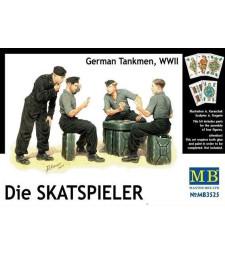 1:35 Die Skatspieler, Германски танкисти, Втората световна война - 4 фигури