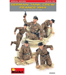 1:35 Германски танков екипаж (Франция 1944), специално издание - 5 фигури