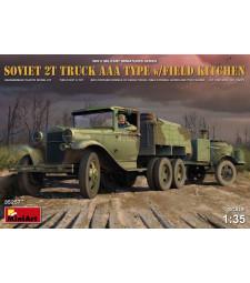 1:35 Съветски военен камион 2т Тип ААА с полева кухня и 2 фигури (Soviet 2 t Truck AAA Type with Field Kitchen)