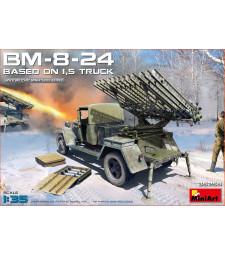 1:35 Система за ракетен залпов огън БМ-8-24 с 1,5 т. камион (BM-8-24 Based on 1,5t Truck)