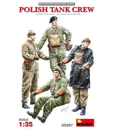 1:35 Полски танков екипаж - 4 фигури (Polish Tank Crew)