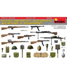 1:35 Съветски пехотни автоматични оръжия и оборудване, специално издание (с фотоецвани части)