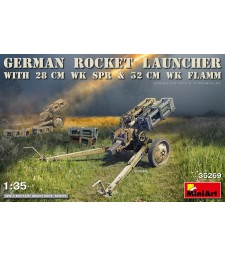 1:35 Германски ракетен стартер с 28cm WK Spr & 32cm WK Flamm
