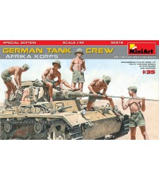 """1:35 Германски танков екипаж, Африкански части, специално издание - 5 фигури с оръжия (German Tank Crew.""""Afrika Korps"""". Special Edition)"""