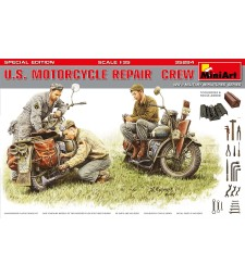 1:35 Американски монтьори на мотоциклети, специално издание - 3 фигури (U.S. Motorcycle Repair Crew. Special Edition)