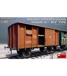 1:35 Покрит товарен вагон 18 t NTV-Тип (Railway Covered Goods Wagon 18 t NTV-Type)