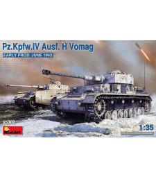 1:35 Германски танк Pz.Kpfw.IV Ausf. H Vomag, ранна версия (юни 1943)