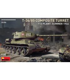 1:35 Съветски танк T-34-85 композитен купол, завод 112, лятото на 1944