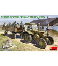 1:35 Германски трактор D8506 с ремарке и екипаж