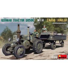 1:35 Германски трактор D8506 с ремарке