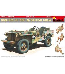 1:35 Военен автомобил Бантам 40 с британски екипаж (Bantam 40 BRC w/British Crew. Special Edition)