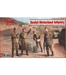 1:35 Съветска моторизирана пехота (1979-1988) (4 фигури - 1 офицер, 3 войници)