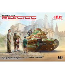 1:35 FCM 36 с френски танков екипаж