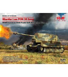 1:35 Marder I on FCM 36 base, WWII German Anti-Tank Self-Propelled Gun
