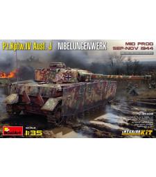 1:35 Германски танк средно производство Pz.Kpfw.IV Ausf. J Nibelungenwerk. (септември-ноември 1944) - модел с интериор